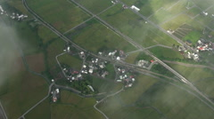 Aerial view from a hot air balloon Stock Footage