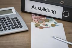 Ausbildung written on a binder Stock Photos