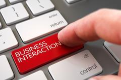 Hand Touching Business Interaction Key Stock Illustration