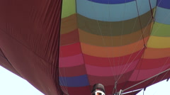 Activating the propane burner of a hot air balloon Stock Footage