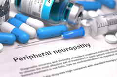 Stock Illustration of Peripheral Neuropathy Diagnosis. Medical Concept
