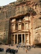The treasury in petra - stock photo