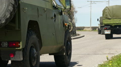 Russian Military Vehicles Stock Footage