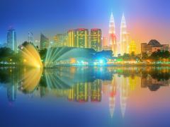 Kuala Lumpur night Scenery, The Palace of Culture - stock photo
