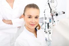 Ophthalmologist. - stock photo