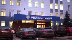 Federal Road Agency Rosavtodor In Moscow, Russia Stock Footage