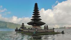 View of Ulun Danu Temple,Bali Stock Footage