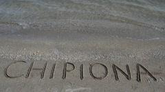 Atlantic Ocean, beach. Spain. Stock Footage