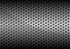 Chrome Perforated Metal Grid - stock illustration