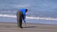 Fishing for Bate in Wexford Stock Footage