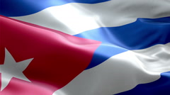 Flag Cuba loop Seamless realistic Stock Footage