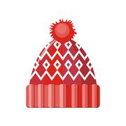 Winter Hat Isolated - stock illustration