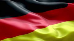 Germany Flag loop Seamless realistic Stock Footage