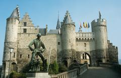 Castle steen antwerp - stock photo