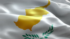 Flag Cyprus loop Seamless Stock Footage