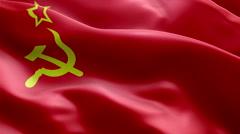 Flag USSR loop communism Stock Footage
