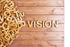 Word vision made with wooden letters - stock photo