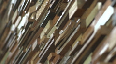 Reclaimed Lumber Useds as Wall Abstract Stock Footage