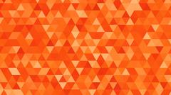 Abstract background consisting of orange triangles of Stock Illustration