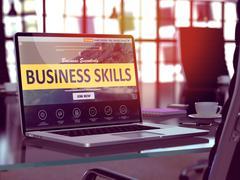 Business Skills Concept on Laptop Screen Stock Illustration