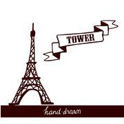 Eiffel Tower sketch Stock Illustration