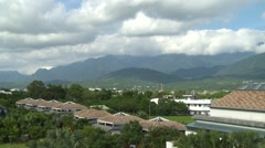 Views from the hotel in Taitung City Stock Footage
