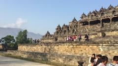 Panorama of the Borobudur temple Stock Footage