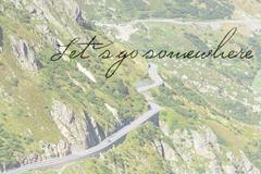 RoadTrip in Mountains Kuvituskuvat
