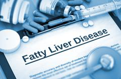 Fatty Liver Disease Diagnosis. Medical Concept. 3D - stock illustration