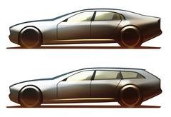 Car Body Sedan & Wagon Stock Illustration
