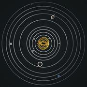 Cogwheel Solar System - stock illustration