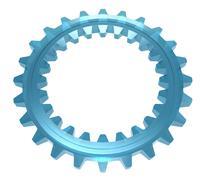 Two-sided Glass Cogwheel Stock Illustration
