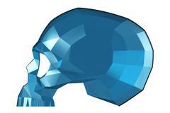 Faceted Glass Skull - stock illustration