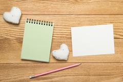 Sheets for writing message Stock Photos