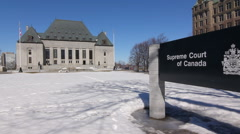 Supreme court of Canada building in Ottawa, Ontario. Stock Footage