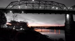 Chattanooga River Front At Sunrise Stock Footage