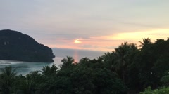 Time-lapse video of sunset on Phi Phi Don island, Thailand Stock Footage