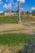 SELCUK, TURKEY - MAY 3, 2015: Ruins of famous Temple of Artemis Ephesus Stock Photos