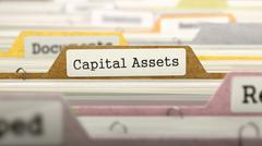 Capital Assets - Folder Name in Directory Stock Illustration