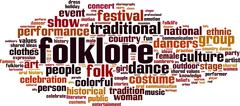 Stock Illustration of Folklore word cloud