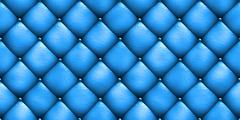 Seamless texture leather upholstery sofa blue. 3D illustration Stock Illustration