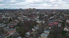 Cliffside Park NJ Aerial Shot Headed Towards School Stock Footage
