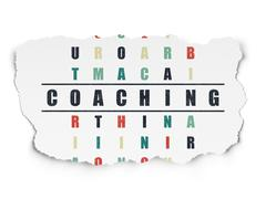 Education concept: Coaching in Crossword Puzzle Stock Illustration