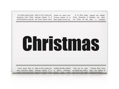 Holiday concept: newspaper headline Christmas Piirros