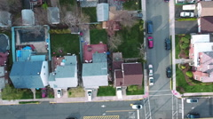 Stock Video Footage of Cliffside Park NJ Overhead Ascending Shot Of Buildings School Field