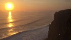 Sunset at Pura Luhur Uluwatu, Bali, Indonesia Stock Footage
