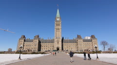 Houses of Parliament in Ottawa, Canada. Stock Footage