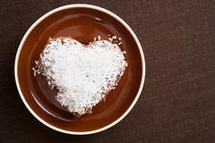 A cake decorated in desiccated coconut - stock photo