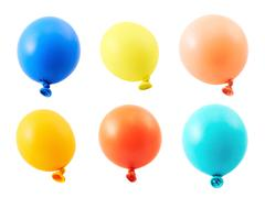 Half-inflated air balloon isolated Stock Photos