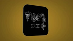 Bike - Transition Blueprint - yellow 02 Stock Footage